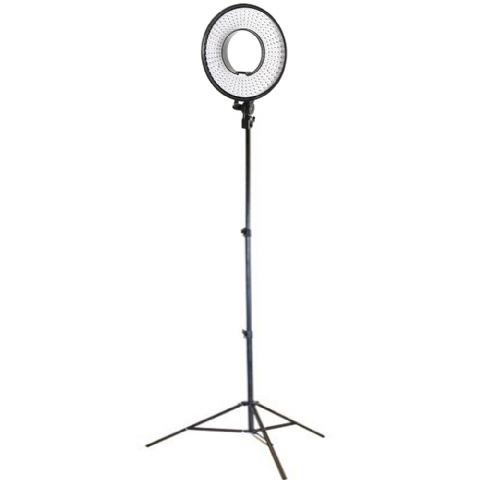 Falcon Eyes LED Ring Lamp Dimmable DVR-300DVC with Tripod