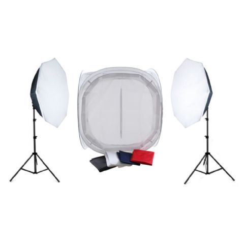 Falcon Eyes 120x120x120 Photo Tent and Lighting 2200W