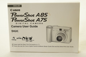 Canon Powershot A85 / A75 Instruction Book