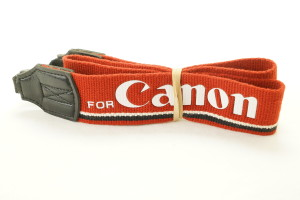 Canon EOS Wide Neck Strap (Red)