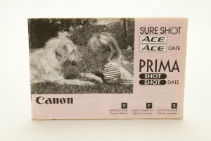 Canon Sureshot Ace (Prima Shot) Instruction Book