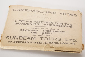 Camerascopic Stereo Views by Sunbeam Tours of Calcutta