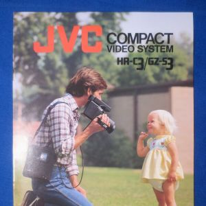 JVC GZ-S3 Video Camera and JVC HR-C3 VHS C Recorder 1980's (Hire Only)