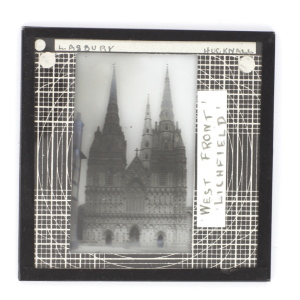 Glass Magic Lantern slide of Lichfield Cathedral