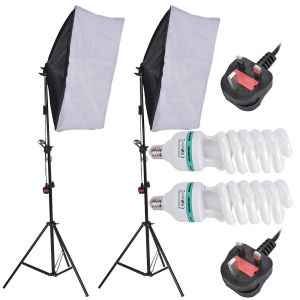 2x 135W Softbox Photography Studio Continuous Lighting Kit w/ Light Stands