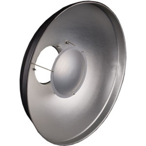56cm 22 inch Beauty Dish Bowens S Type Silver Interior