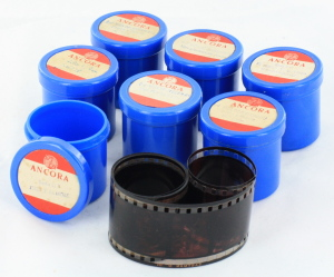 7 Ancora Religious Film Strips in Canisters
