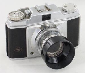 Agfa Silette 1 35mm Camera in Case with Hood & Filter