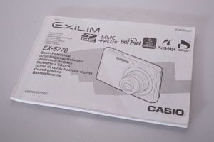 Casio EX-S770 Instruction Book/Manual