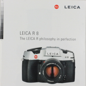 Leica R 8 A4 Brochure (Philosophy in Perfection)