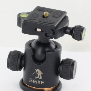 BEIKE BK-03 Camera Tripod Ball Head Ballhead with Quick Release Plate 1/4 Screw