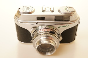 Arette C 35mm Rangefinder Camera in case