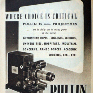 Pullin Optics 35mm Film Strip Projector 1949 (Hire Only)