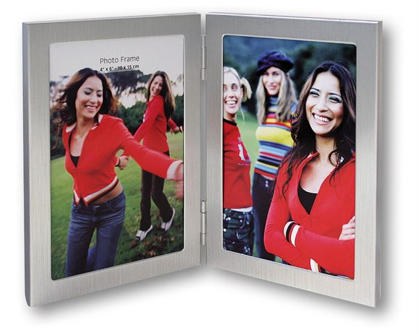 Zep Double Photo Frame 8702V1 Silver 2x 10x15 cm