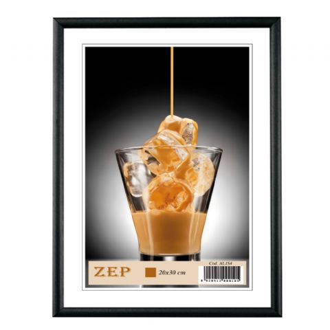 Zep Aluminum Photo Frame AL1B1 Black 10x15 cm