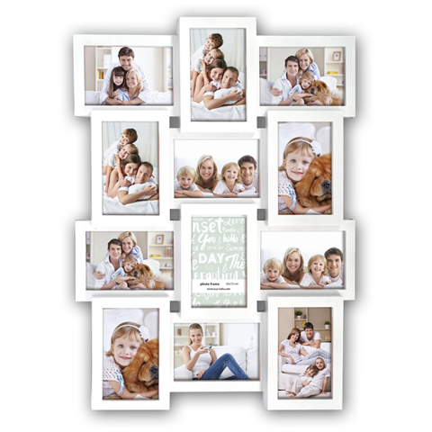 Zep Collage Photo Frame PI01917 White for 12 Photos