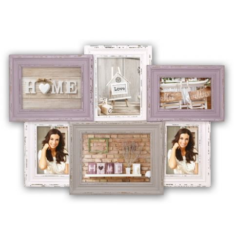 Zep Wooden Collage Photo Frame SY96Q Madeleine for 6 Photos