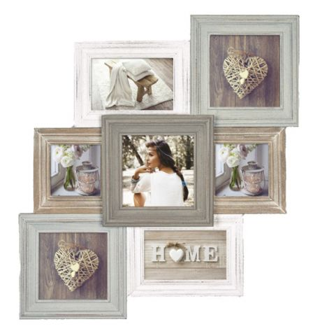 Zep Wooden Collage Photo Frame TY381 Airolo for 7 Photos